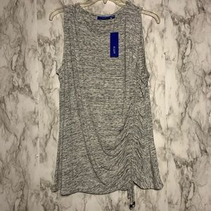 Apt. 9 Heather Gray tank top ruching on side